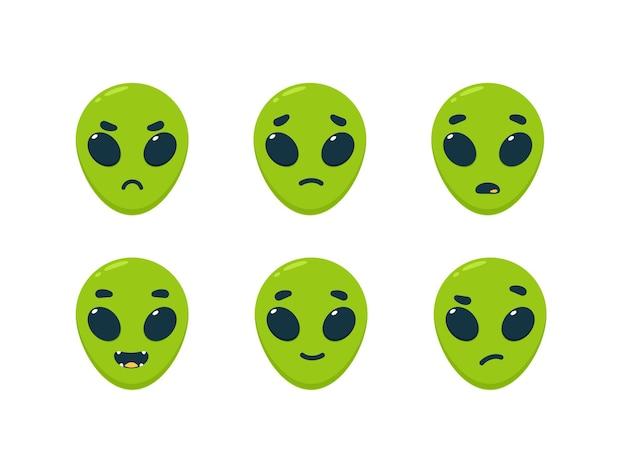 L'émoticône de l'alien vert - smiley émoticône de rétroaction.