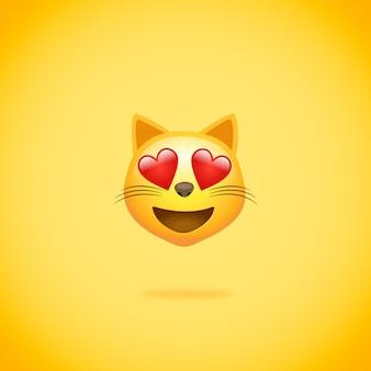 Émoticône chat amoureux whatsapp