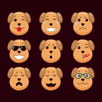 Émoticône de chien mignon