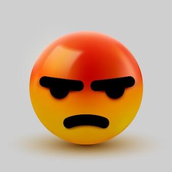 Émoticône en colère 3d