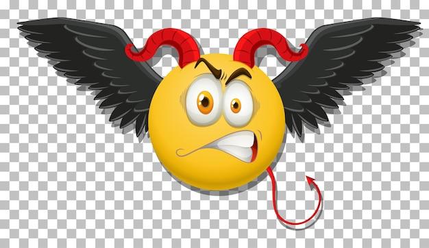 Émoticône diable avec expression faciale