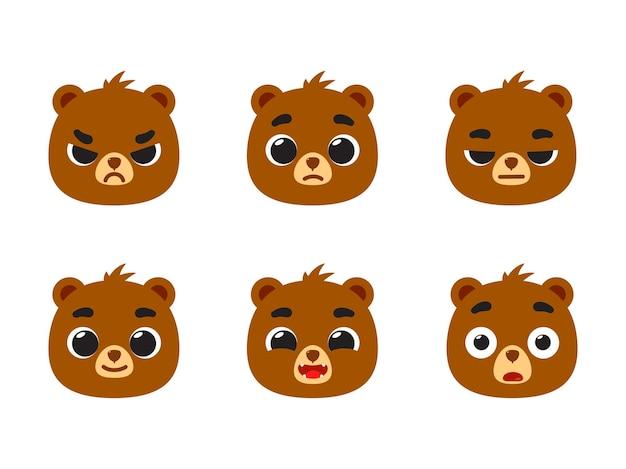L'émoticône de l'ours brun - smiley émoticône de rétroaction.