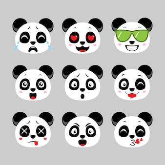 Émoticône panda mignonne