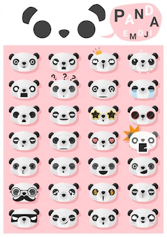 Emoticône panda