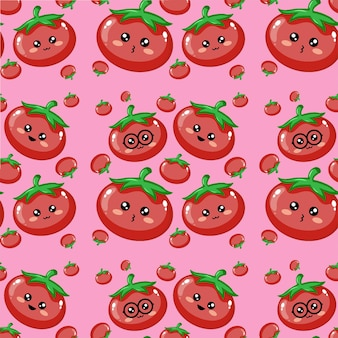 Émoticône de tomates beau fond