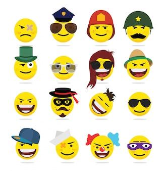 Émoticônes emoji style drôle créatif