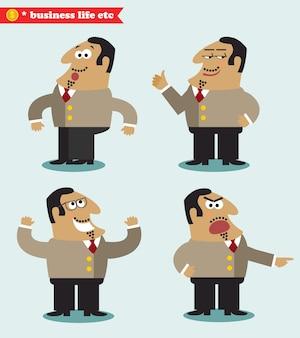 Émotions de patron dans les poses