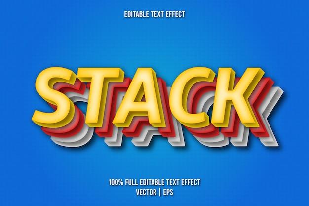 Empilez le style comique d'effet de texte modifiable