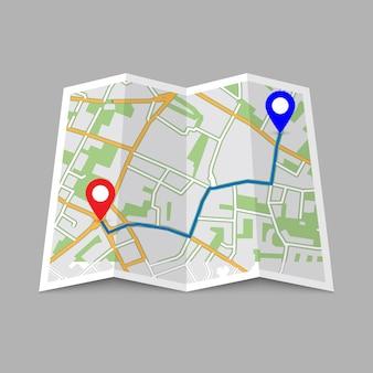 Emplacement carte de la ville