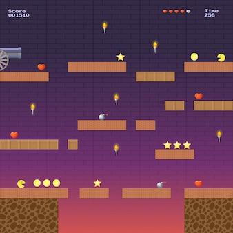 Emplacement du jeu vidéo. modèle pour les jeux d'arcade