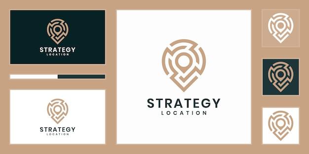 Emplacement de la stratégie ou logo de technologie de point.