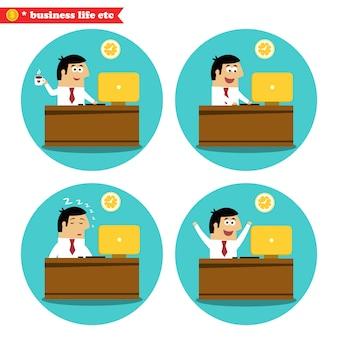 Employé de bureau au bureau