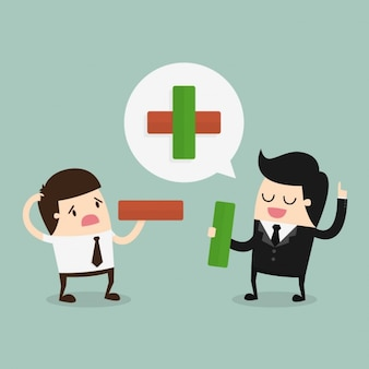 Employés et patron parlant