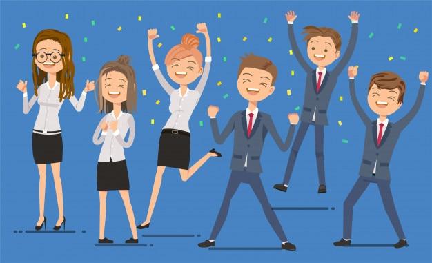 Les employés sont heureux de réussir
