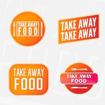 Emportez l'autocollant de nourriture.