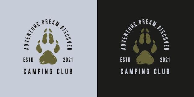 Empreinte de camping ou de randonnée pour impression de voyage