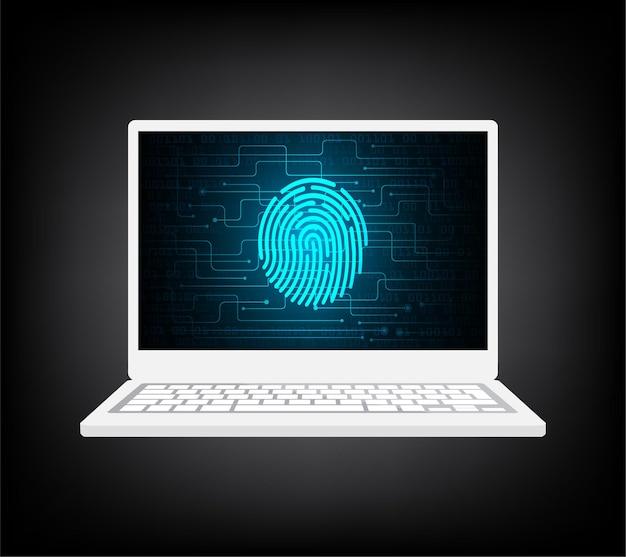 Empreinte digitale de sécurité pc