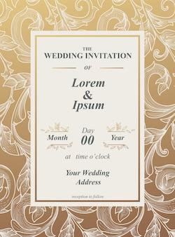 Encadrement conception de modèle de carte d'invitation. motif floral et bordure