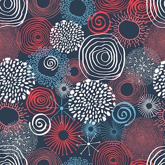 Encre de couleur des cercles en jacquard sans soudure.