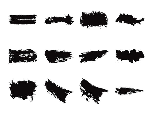 Encre coups de pinceau figure modèle de texture définie des icônes