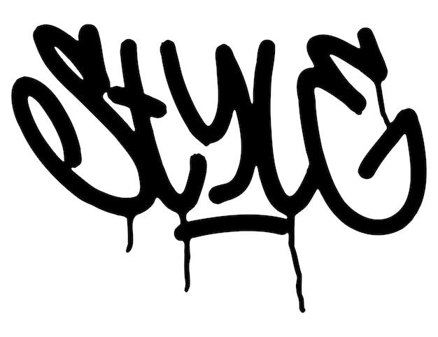L'encre de lettrage de style tag graffiti noir goutte de peinture à l'encre de marqueur