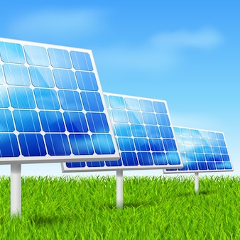 Énergie écologique, panneaux solaires