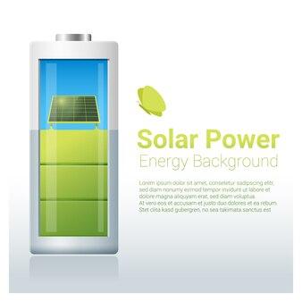 Énergie verte avec batterie de recharge pour panneaux solaires