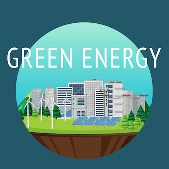 L'énergie verte générée par l'éolienne et le panneau solaire