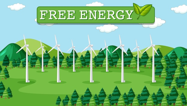 L'énergie verte générée par l'éolienne