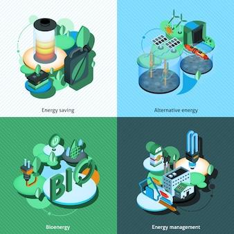 Énergie verte isométrique