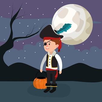 Enfant en costume de pirate