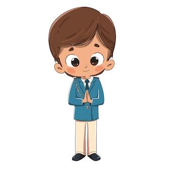 Enfant faisant la première communion