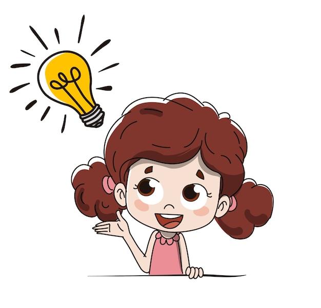 Enfant avec une idée
