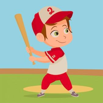Enfant jouant au baseball