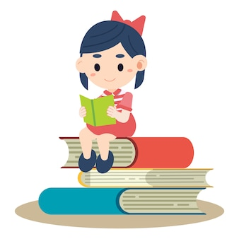 Enfant lisant le livre