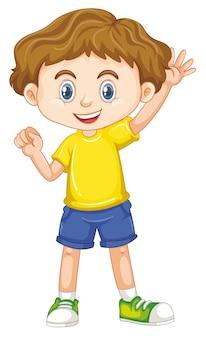 Enfant souriant heureux mignon isolé sur fond blanc