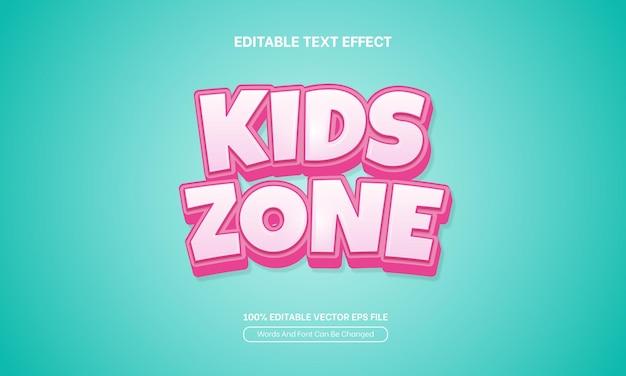 Enfant de style de texte modifiable effet de texte pour enfants