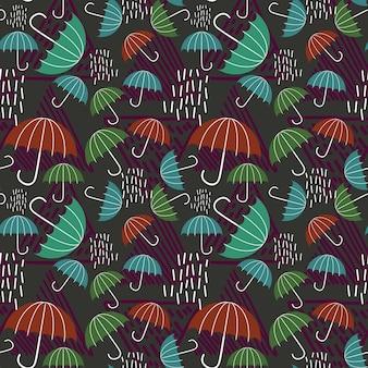Enfantin dessin de fond avec goutte de pluie