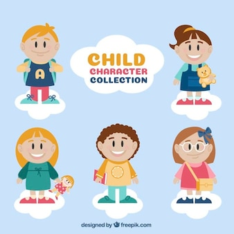 Enfants avec accessoires