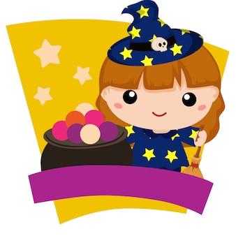 Enfants adorables de sorcière