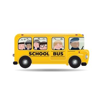 Les enfants aiment monter à bord d'un autobus scolaire