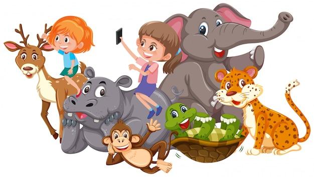 Enfants et animaux sauvages