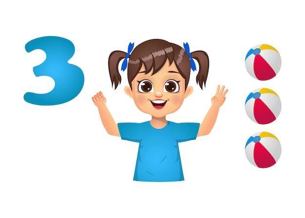 Enfants apprenant à compter avec les doigts
