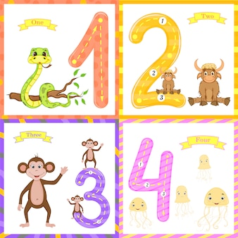 Les enfants apprennent à compter et à écrire.