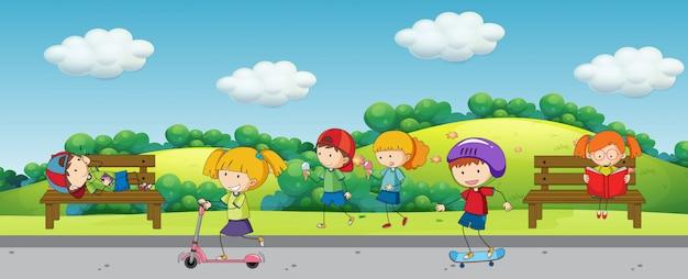 Enfants au parc