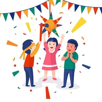 Enfants célébrant les posadas