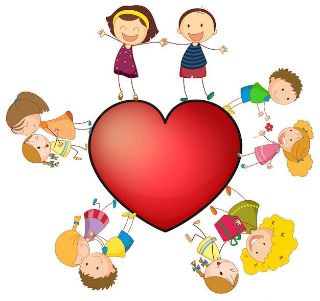 Enfants et coeur