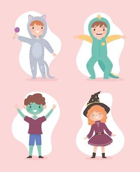 Enfants avec costumes
