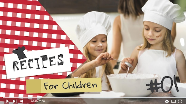 Enfants cuisinant la vignette youtube