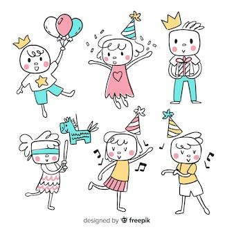 Enfants dans la collection d'anniversaires
